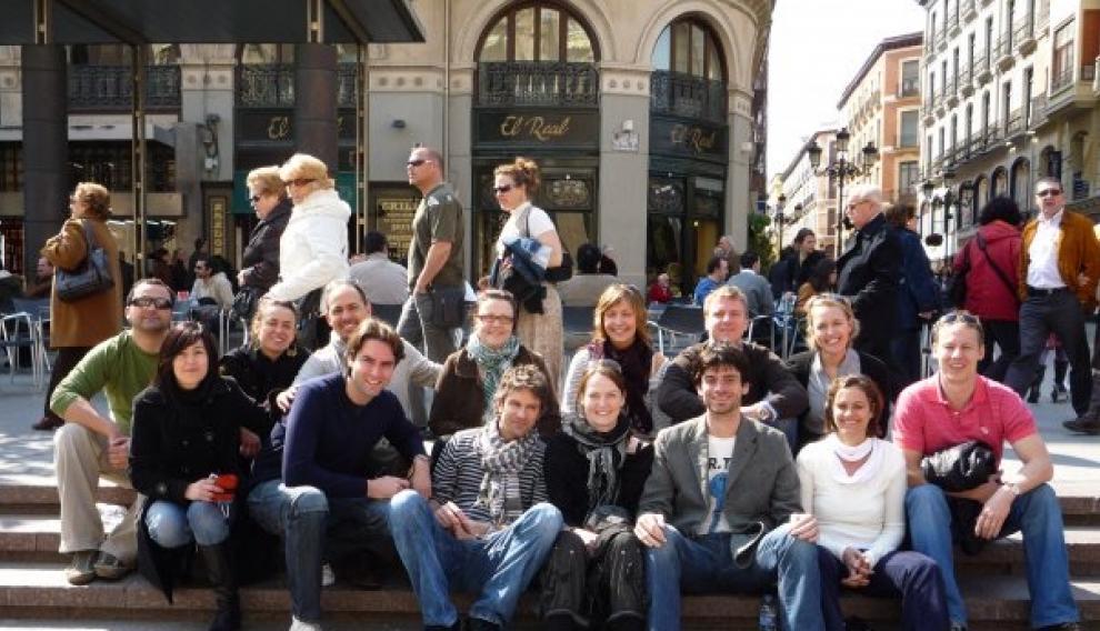 Reencuentro en 2009, 10 años más tarde de estar estudiando en Zaragoza.