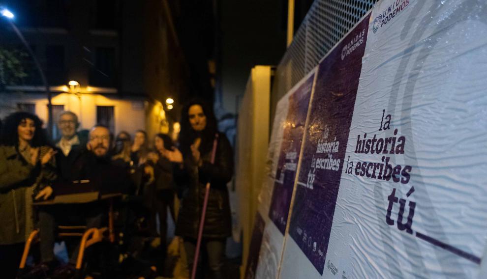 Arranque de campaña de Unidas Podemos en Zaragoza