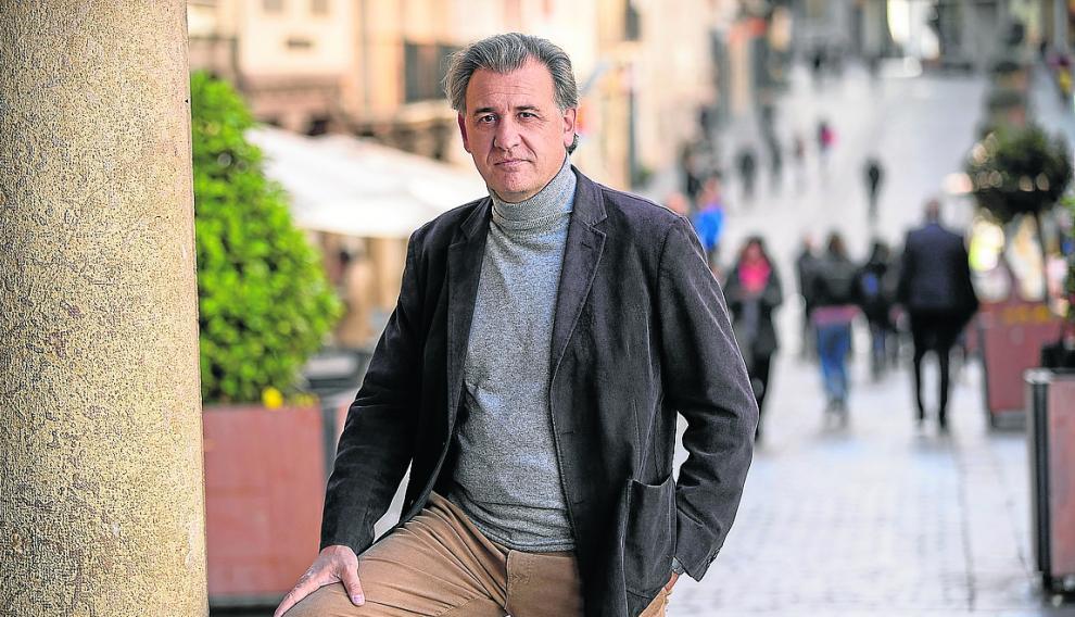 Joaquin Moreno, candidato de ciudadanos por Teruel al congreso delos diputados en las proximas elecciones generales. Foto AntonioGarcia/bykofoto. 09/04/19 [[[FOTOGRAFOS]]]
