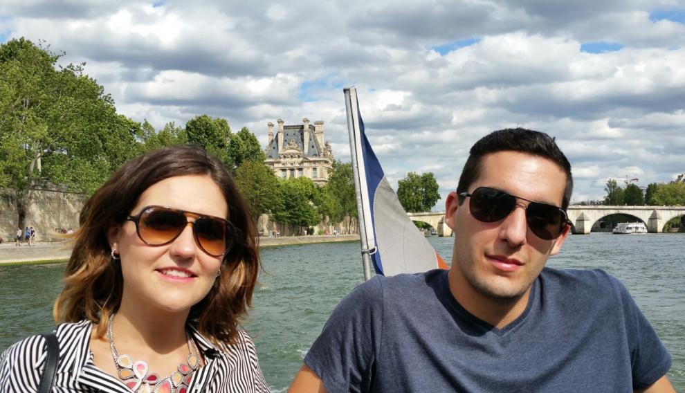 Una imagen de la pareja española sacada esta misma tarde en París.