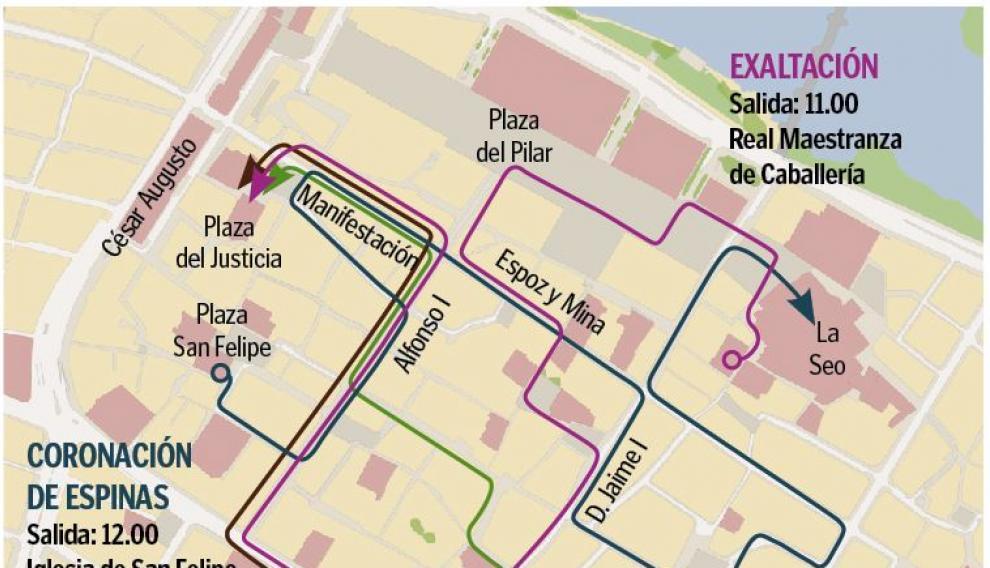 Calendario Perpetuo Semana Santa.Semana Santa 2019 Zaragoza Procesiones De Jueves Santo Horarios