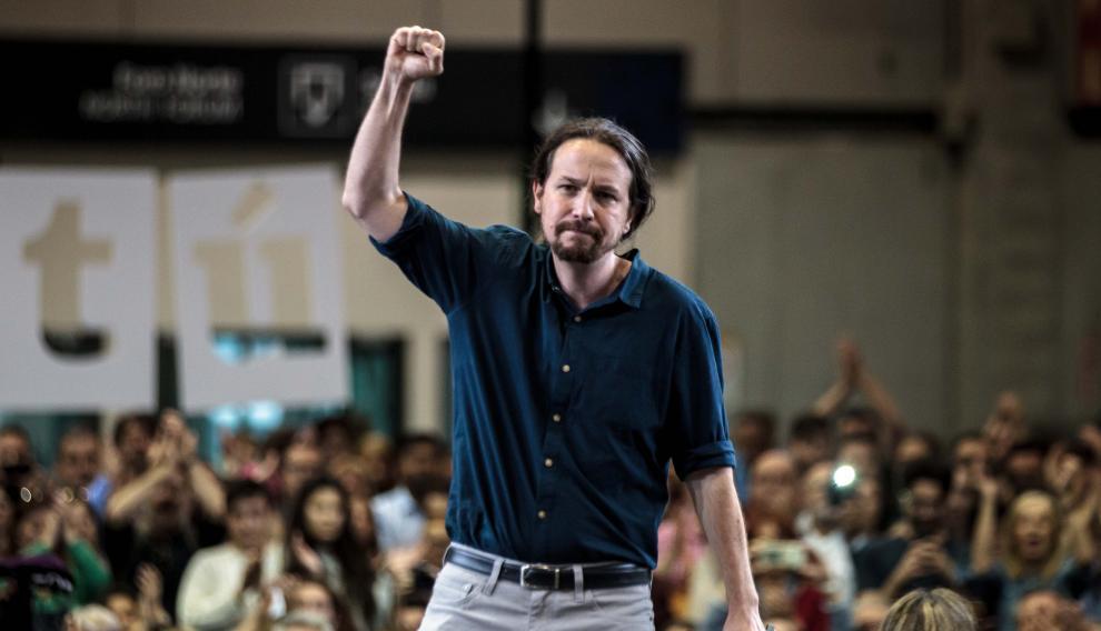 El candidato de Unidas Podemos a la Presidencia del Gobierno, Pablo Iglesias.