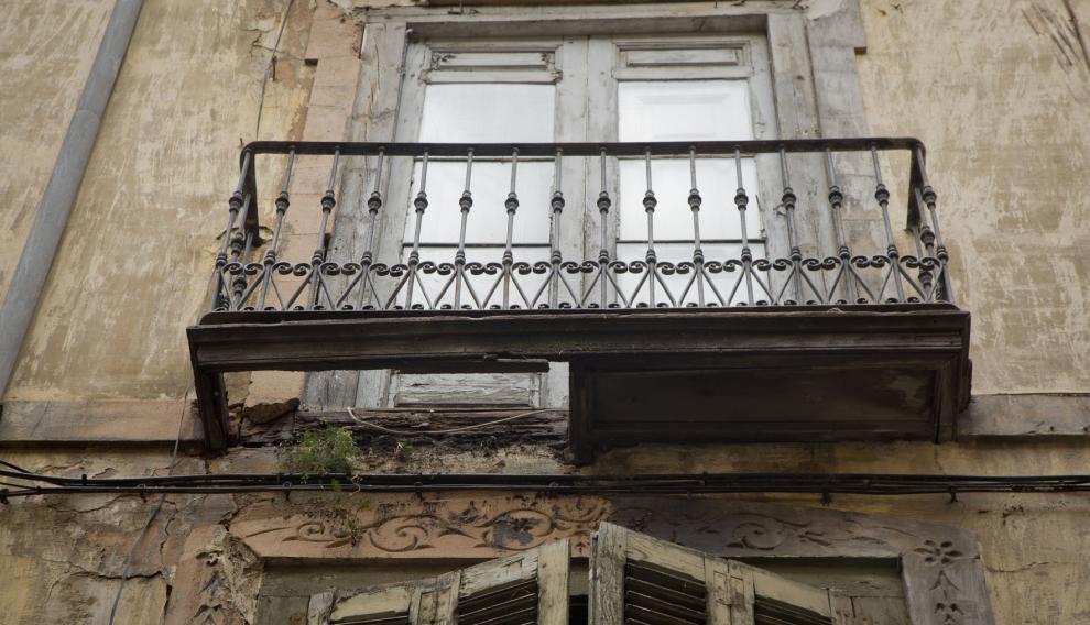desprendimiento de cascotes en Calatayud
