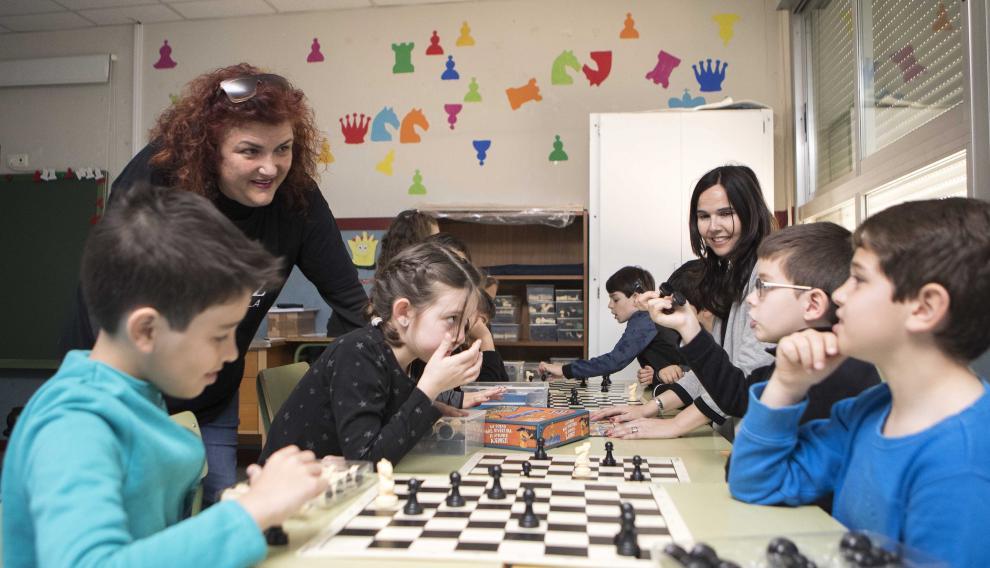 En plena partida de ajedrez