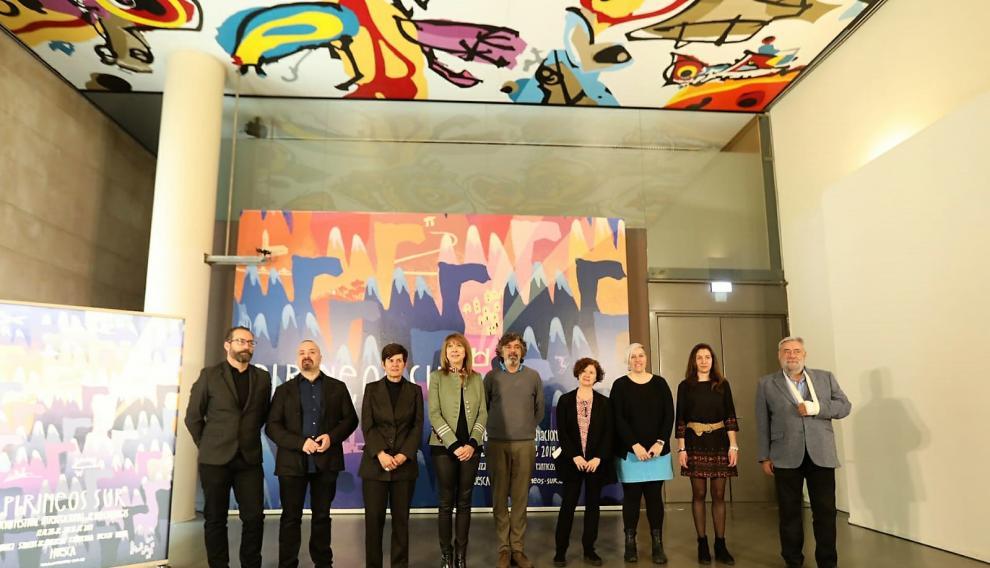 Representantes de la Diputación de Huesca y de empresas en la presentación de Pirineos Sur