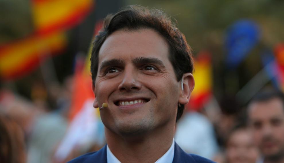 Albert Rivera en el cierre de campaña de Ciudadanos en Valencia.