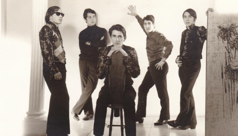 Los Kiowas, uno de los conjuntos destacados del rock zaragozano de los sesenta.