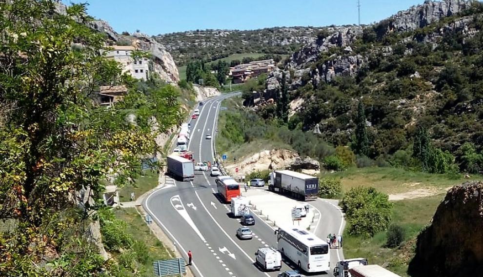 El accidente se ha producido en el km 64,400 de la N-230.