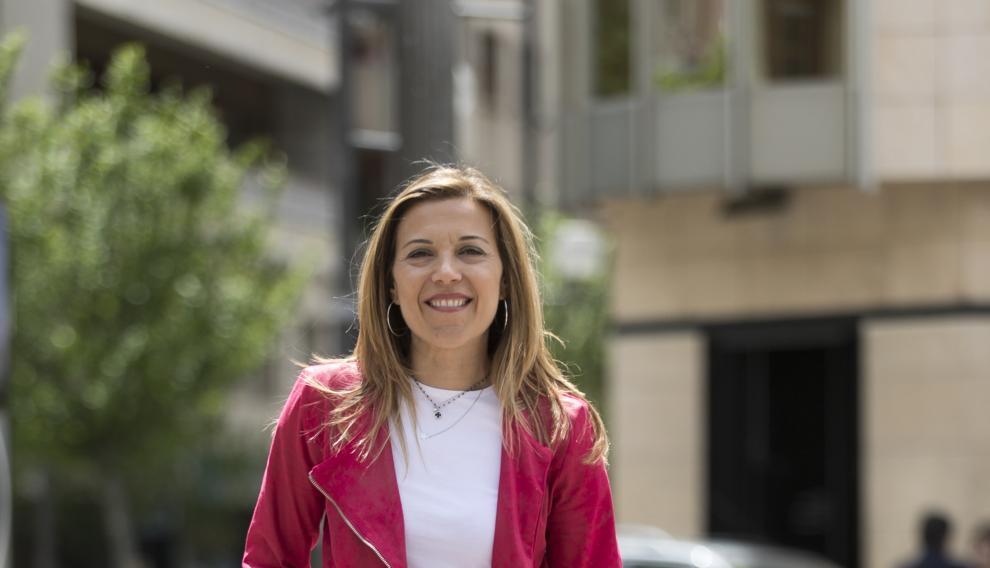 Ana Alós, candidato a la alcaldía de Huesca por el PP.