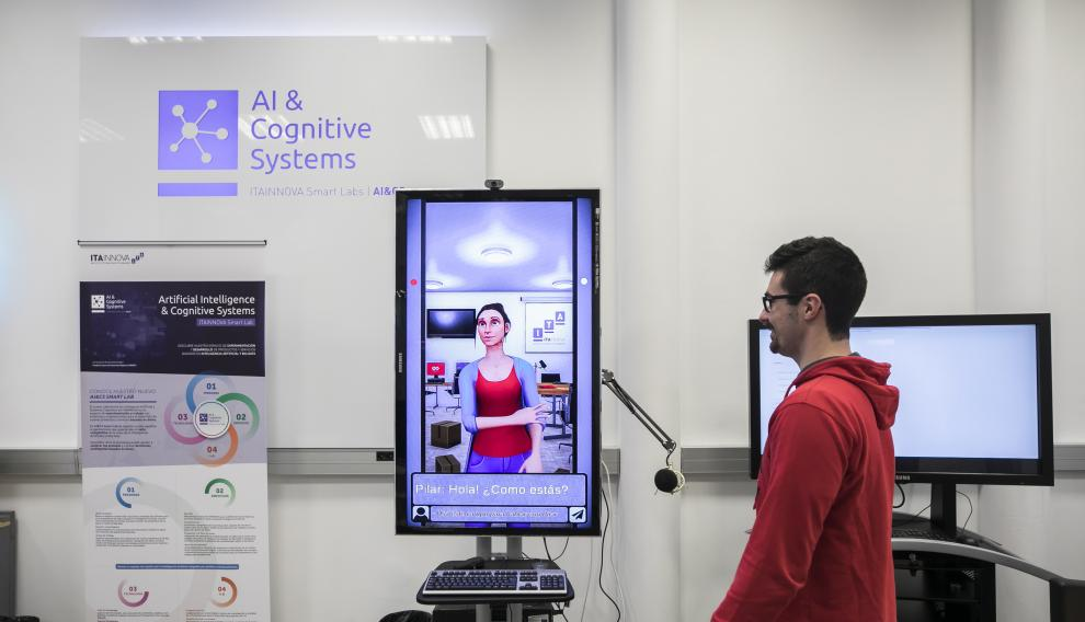 Pilar, el avatar de un programa de IA educativo, diseñado por el Grupo de Big Data y Sistemas Cognitivos de Itainnova