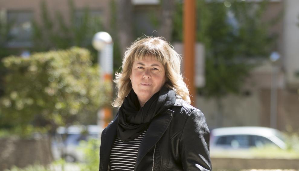 Candidata al Ayuntamiento de Huesca por IU, Pilar Callén.