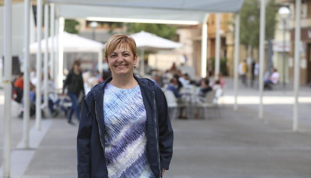 Pilar Novales, candidata a la alcaldía de Huesca por Con Huesca-Podemos.