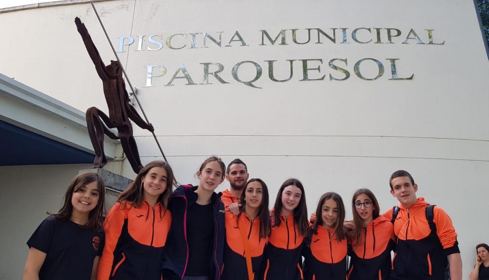 Las seis cadetes femeninas: Irene Del Pino, Laia García, María Gracia, Celia García, Julia Miguel y Lara Martín.