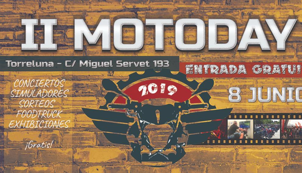 Cartel de la II edición de MotoDay Zaragoza.