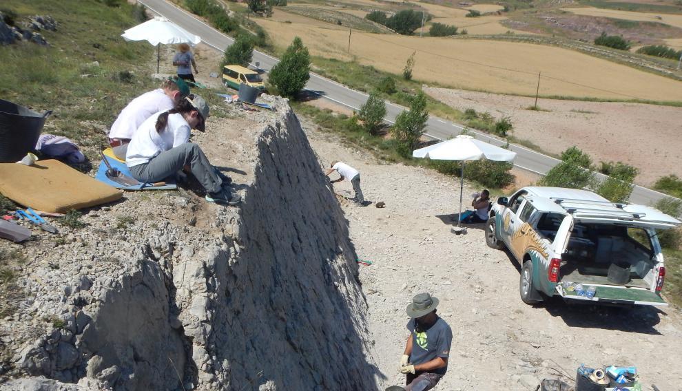Trabajos de conservación en el yacimiento Ababuj, previos a la intervención museográfica inaugurada en 2018