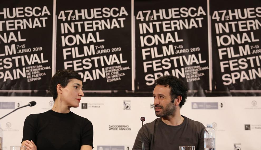 Sorogoyen y Peña en la rueda de prensa en la Diputación.