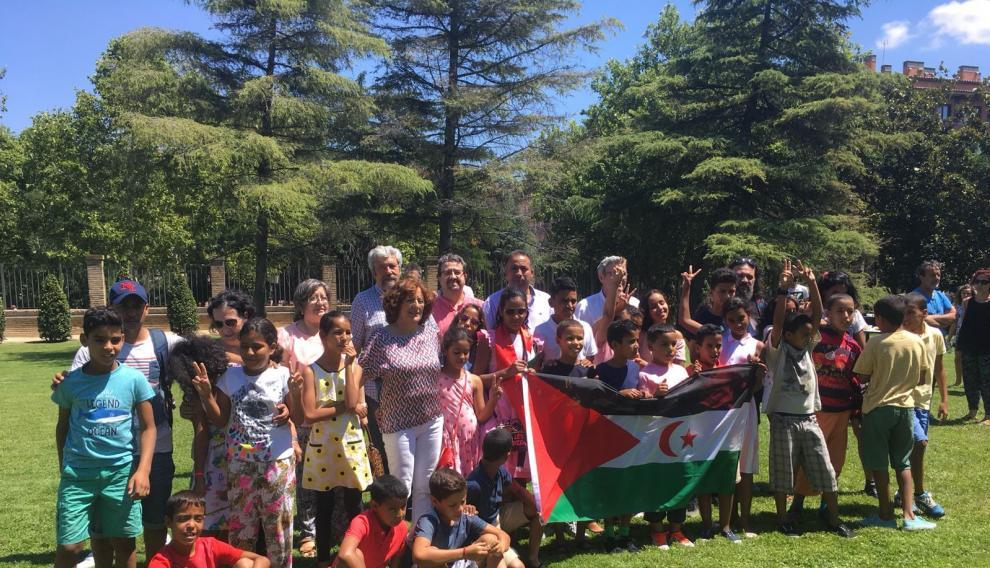 Una jornada de convivencia con otras familias de acogida y niños saharauis en Aragón.