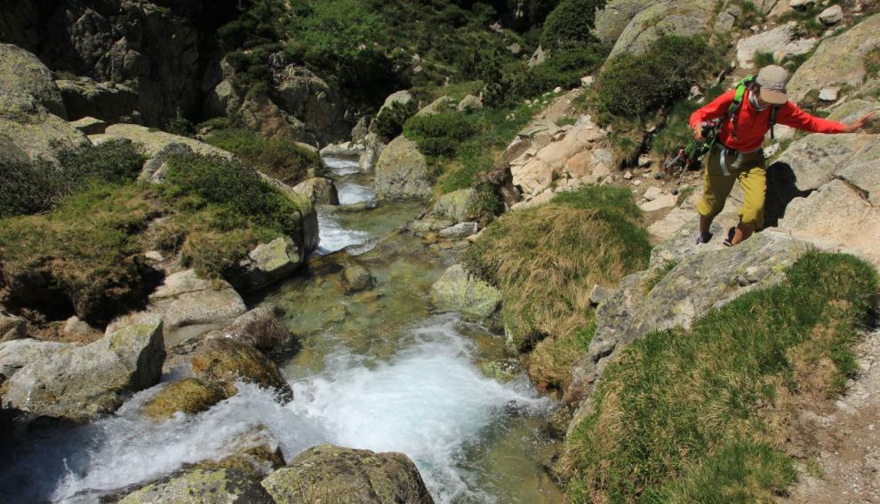 Las cascadas espumosas del Aiguallut.