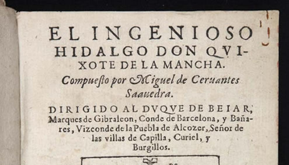 Primera edición de Don Quijote
