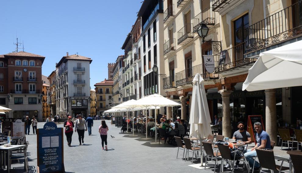 Terrazas de los bares en la Plaza del Torico /2019-06-12/ Foto: JorgeEscudero [[[FOTOGRAFOS]]]