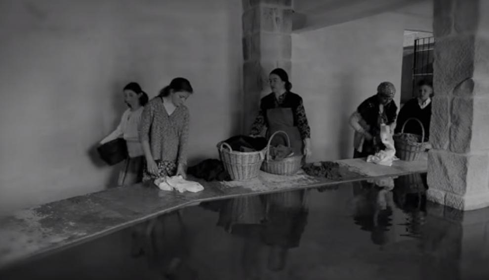 Imagen rodada por los alumnos de primaria, en el antiguo lavadero de Valderrobres