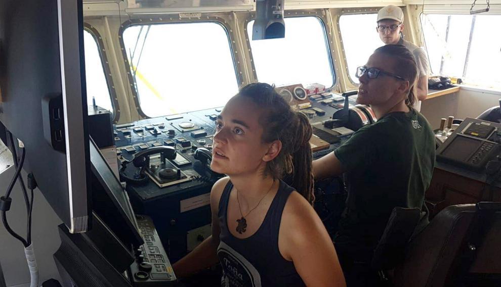 La comandante de la embarcación, Carola Rackete