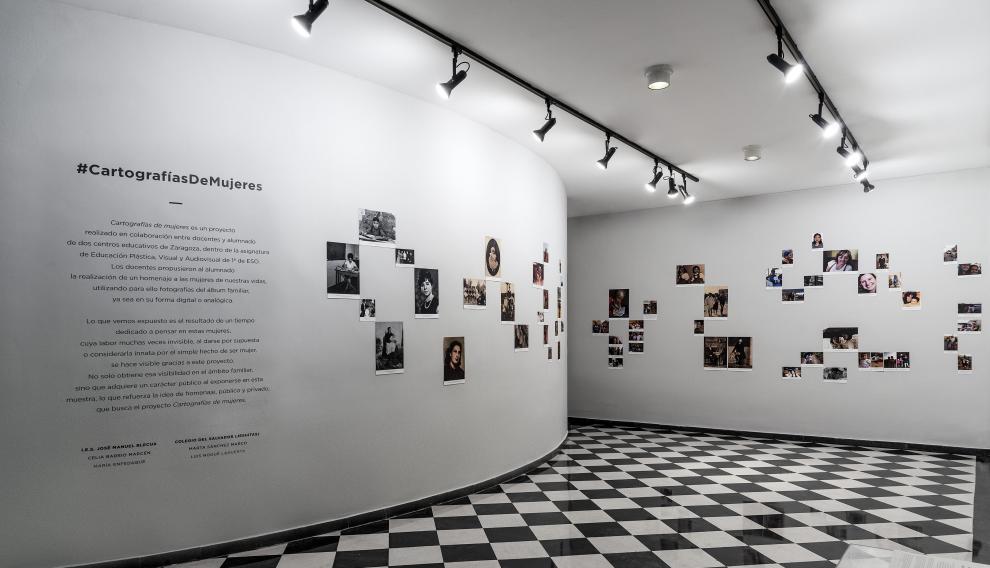 """La exposición 'Cartografías de Mujeres"""" pudo verse hasta el pasado 13 de abril en la Casa de la Mujer de Zaragoza"""