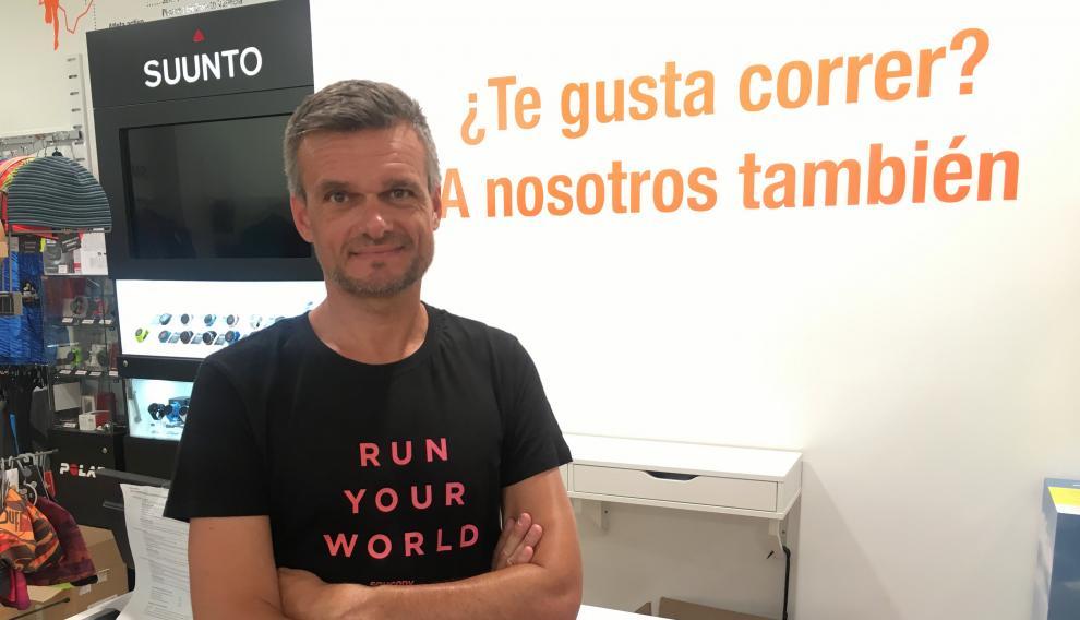 David Constante, gerente de Running Zaragoza.