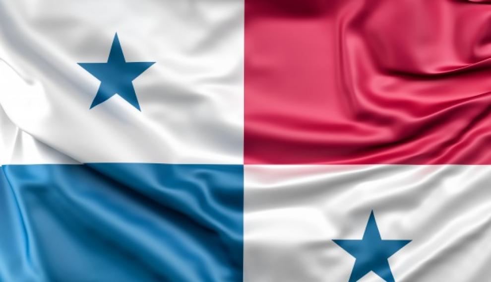 Esta es la posición en la que debía estar colocada la bandera de Panamá.
