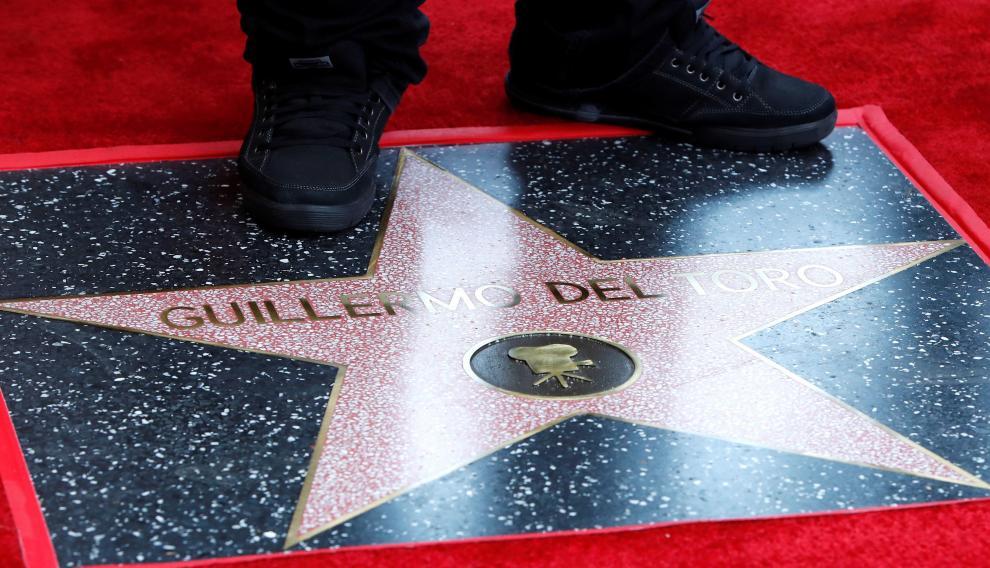 La estrella de Guillermo del Toro en el Paseo de la Fama de Hollywood.