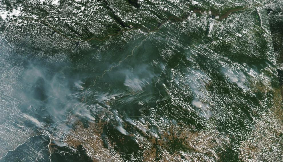 Focos de los incendios en la Amazonía.