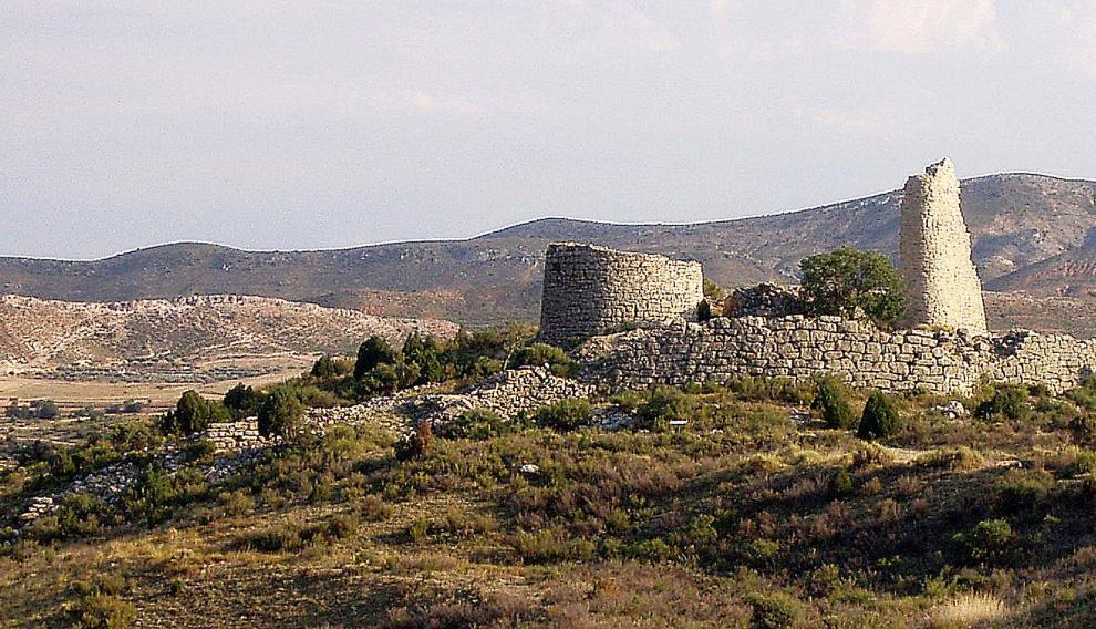 Panorámica de la fortaleza ibérica del Cabezo de San Pedro