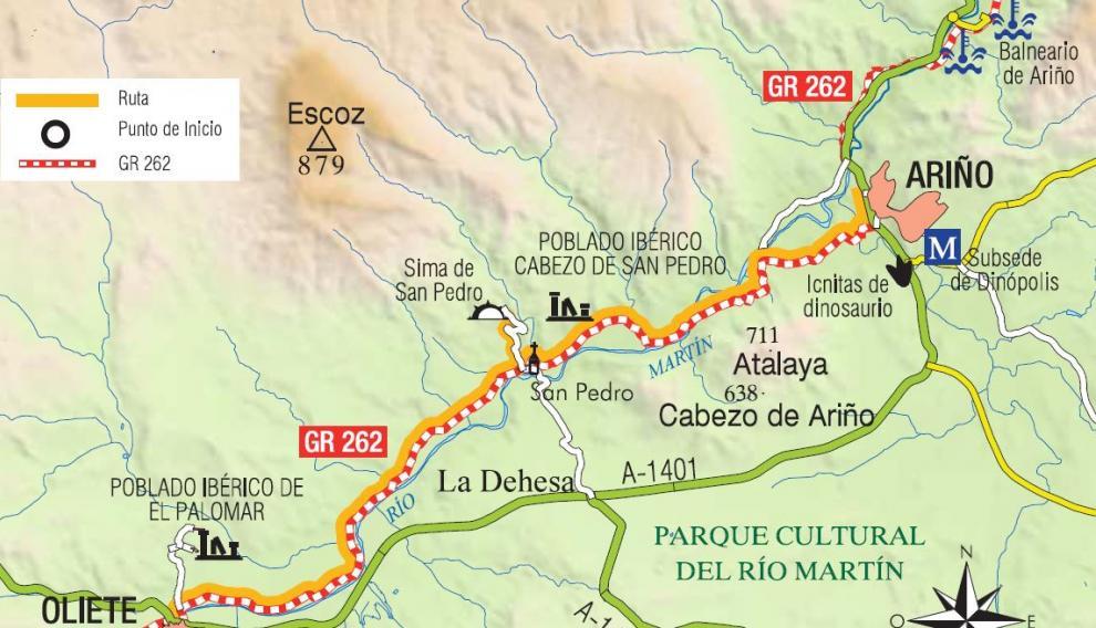 Mapa del trazado de la ruta