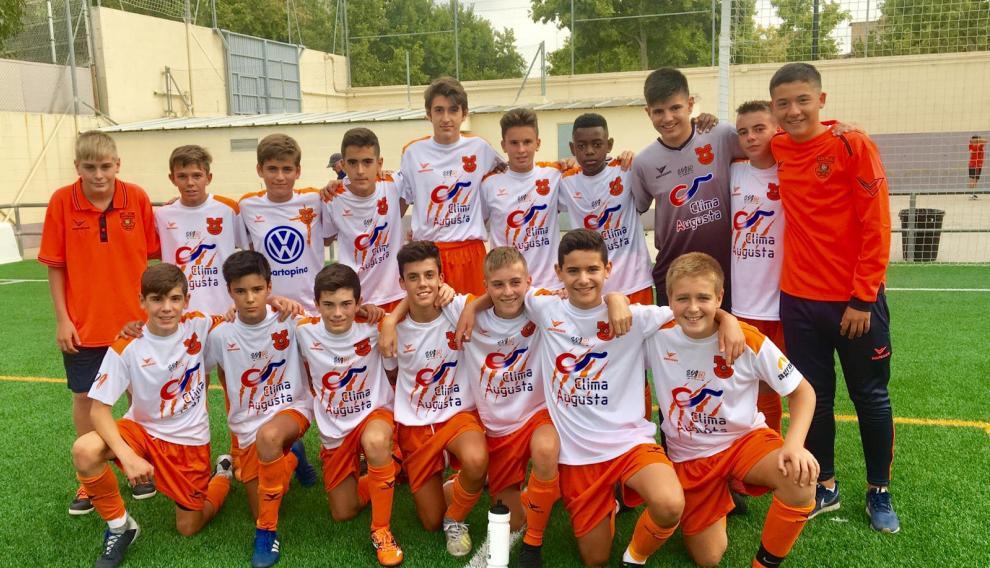 Jugadores del Santo Domingo Juventud División Honor Infantil.