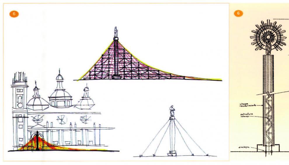 Boceto de Bigas Luna para la nueva ubicación de la Ofrenda de Flores