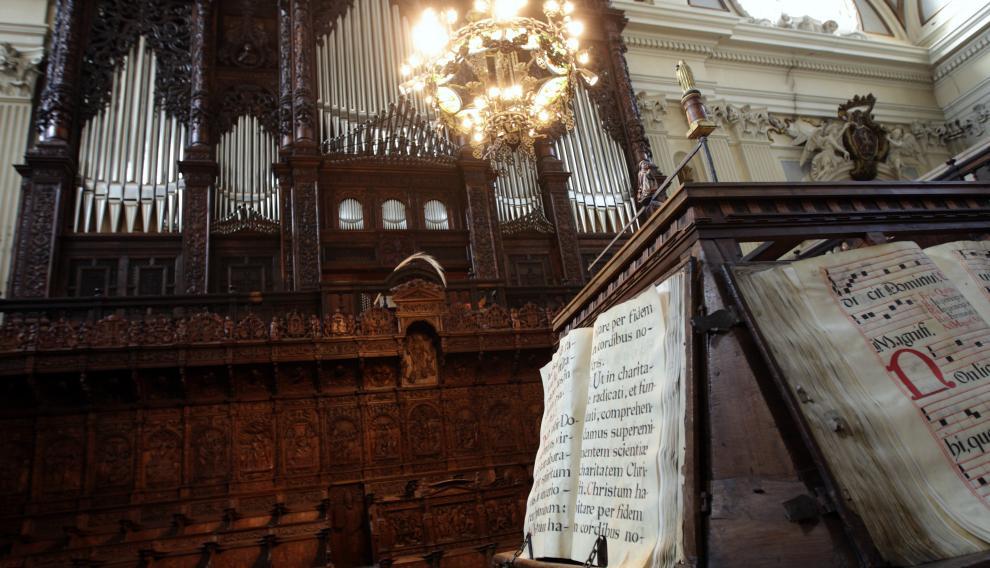 El coro mayor de la basílica del Pilar de Zaragoza