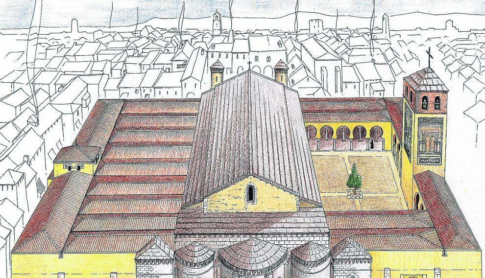 Sobre estas líneas, el templo cristiano inserto en la antigua mezquita