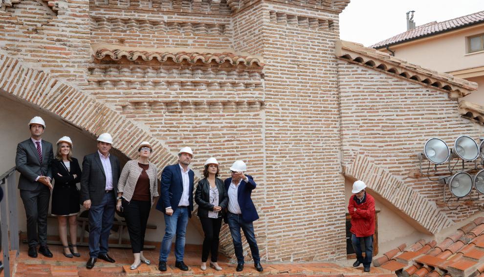 Visita a la cubierta de la catedral de Teruel para observar la restauración.