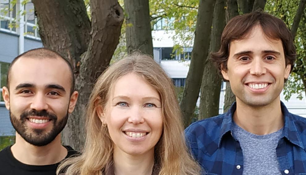 De izquierda a derecha, Andrés Ordoñez, Olga Smirnova y David Ayuso