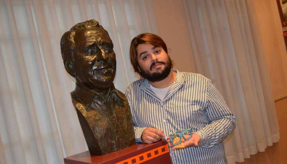 Brays Efe, el pasado agosto, en el Festival de Cine de Comedia de Tarazona, donde fue premiado