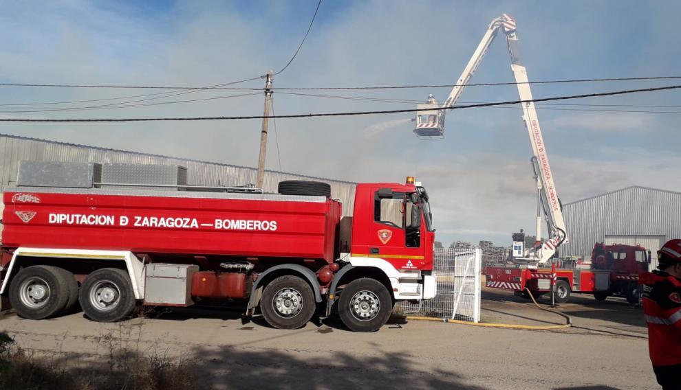 Incendio en una fábrica de La Almunia
