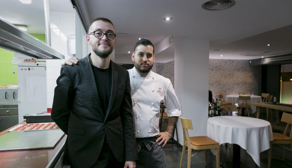 Diego Millán y Ramces González, propietarios del restaurante Cancook, de Zaragoza.