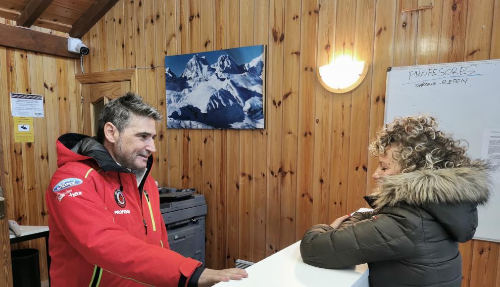 Recepción de la escuela de esquí.