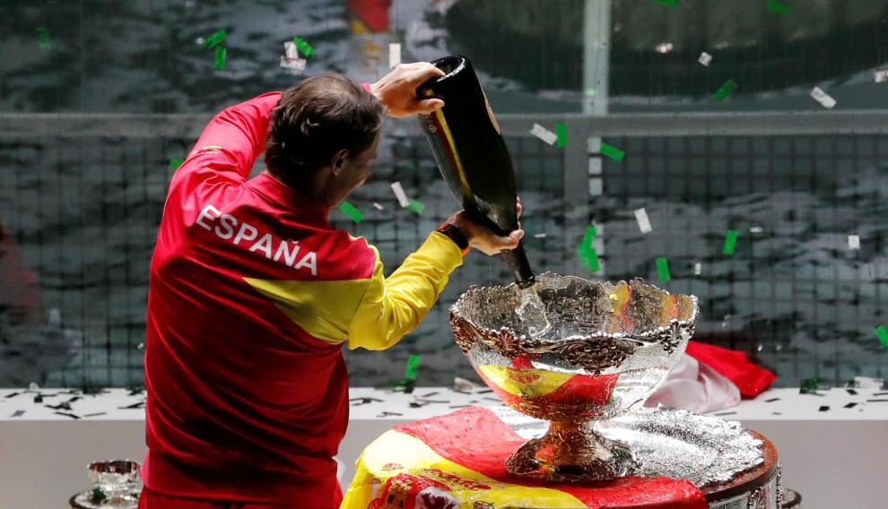 Final de la Copa Davis que enfrenta a España y Canadá este domingo en la Caja Mágica de Madrid.