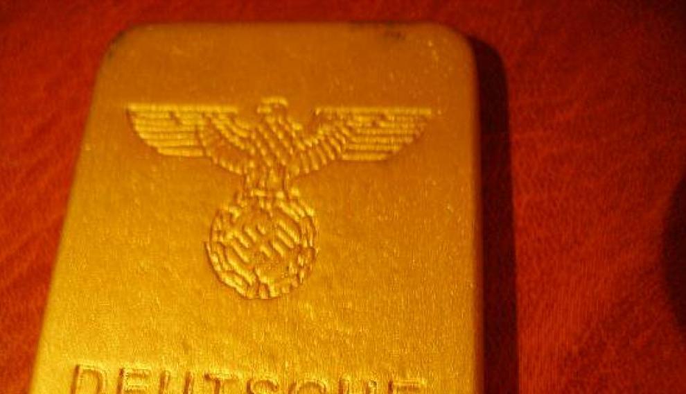 Un lingote similar del Banco de Alemania durante el Gobierno de Hitler.