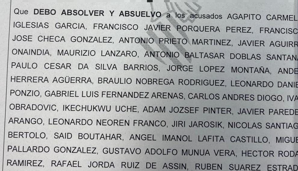 Fallo de la sentencia del juicio Levante-Real Zaragoza.