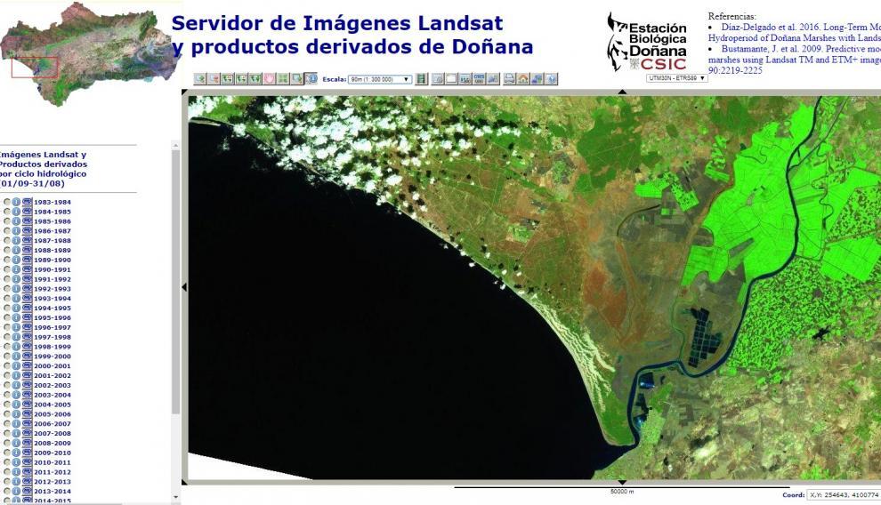 Vistas satelitales desde 1983.