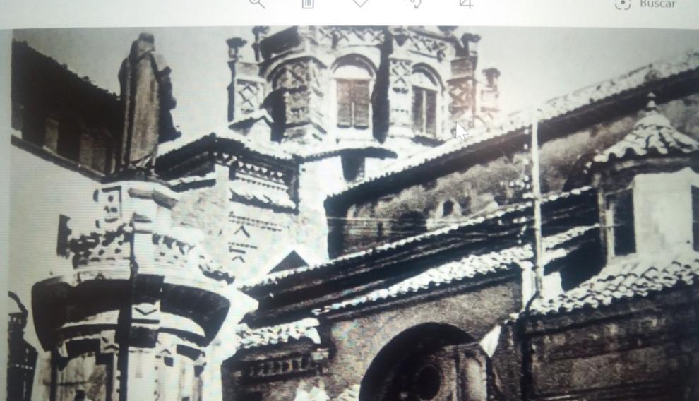 La Catedral de Santa María de Mediavilla de Teruel, tras la Guerra Civil.