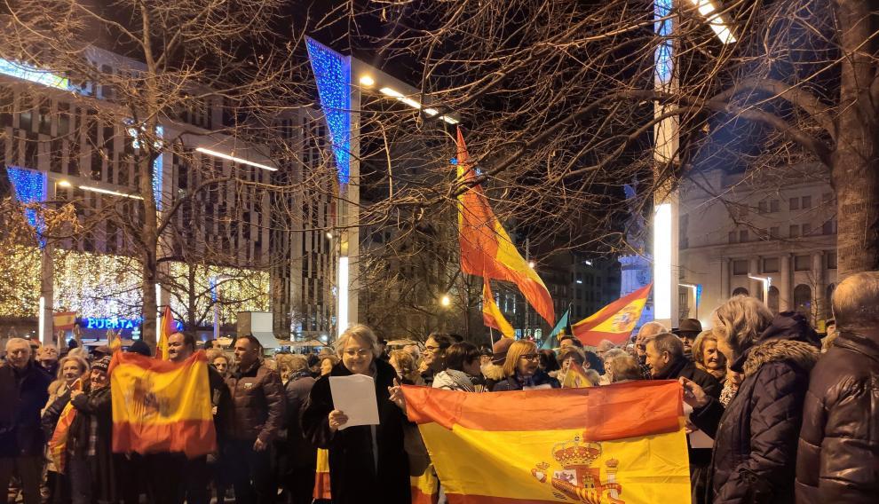 La protesta ha sido convocada por el Movimiento Social de Aragón