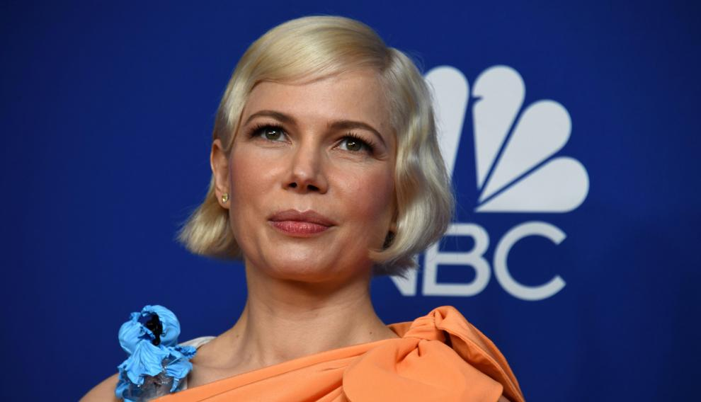 Beverly Hills (United States), 06/01/2020.- Michelle Williams holds the award for Best Performance by an actress in a Limited Series or a Motion Picture Made for Television for 'Fosse/Verdon' in the press room during the 77th annual Golden Globe Awards ceremony at the Beverly Hilton Hotel, in Beverly Hills, California, USA, 05 January 2020. (Estados Unidos) EFE/EPA/CHRISTIAN MONTERROSA Press Room - 77th Golden Globe Awards